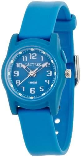 Cactus Unisex-Armbanduhr Analog Kunststoff blau CAC-55-M04