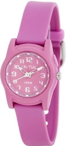 Cactus Maedchen-Armbanduhr Analog Kunststoff pink CAC-55-M05
