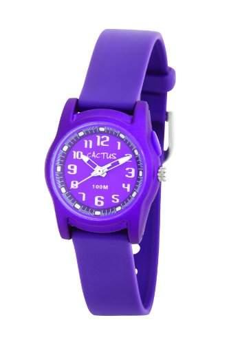 Cactus Unisex-Armbanduhr Analog Kunststoff violett CAC-55-M09