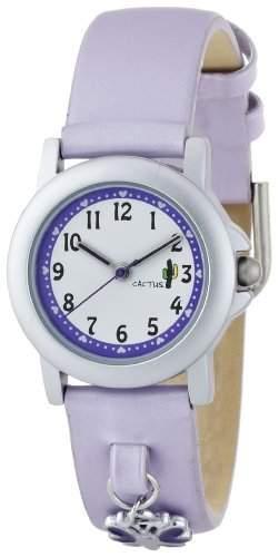 Cactus Maedchen-Armbanduhr Analog Plastik Violett CAC-56-L09