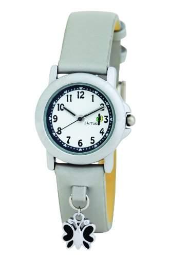 Cactus Maedchen-Armbanduhr Analog Plastik Grau CAC-56-L15