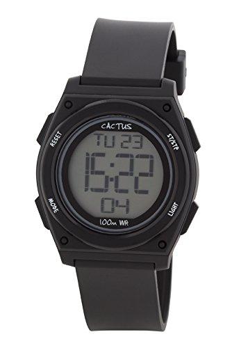 Cactus Kinder Armbanduhr Digital Plastik Schwarz CAC 66 M01