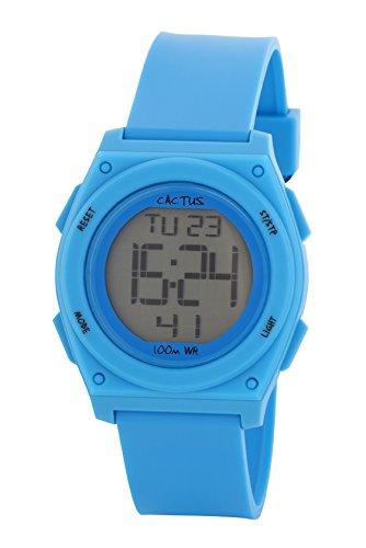 Cactus Kinder Armbanduhr Digital Plastik Tuerkis CAC 66 M03