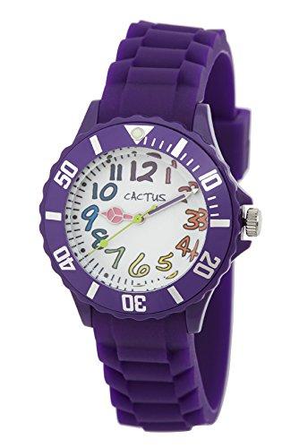 Cactus Kinder Armbanduhr Analog Plastik Violett CAC 62 M09