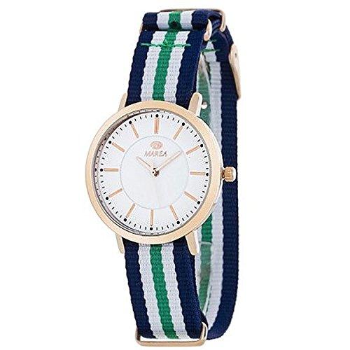 Damen Uhr Marea B21165 7 Blau Weiss und Gruen