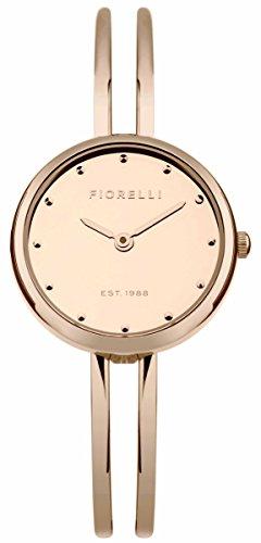 Fiorelli Damen Quarzuhr mit Rose Gold Zifferblatt Analog Anzeige und Rose Gold Legierung Armband fo030rgm