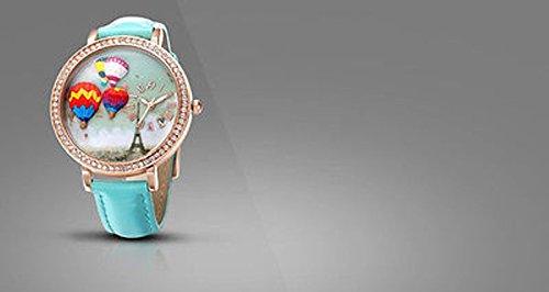 Uhr mit IP PINK und Armband Gruen Wasser Ballonfahrt