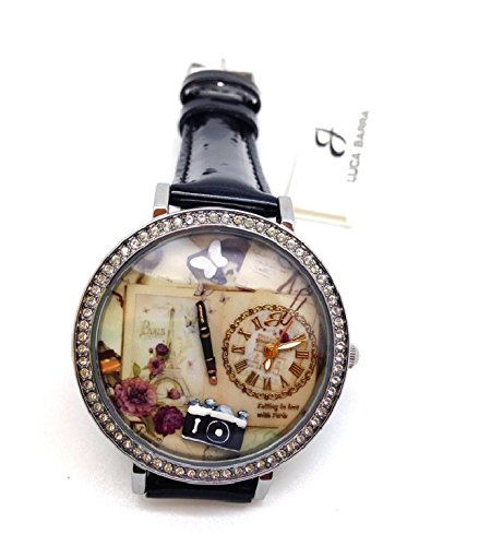 Uhr mit IP Silber und Armband schwarz Buchstaben und Bilder