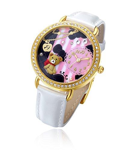 Uhr mit IP Gold und Armband Weiss Baer