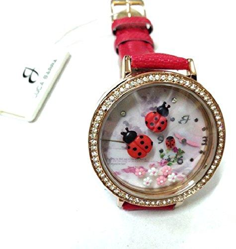 Uhr mit IP PINK und Armband Rot Marienkaefer