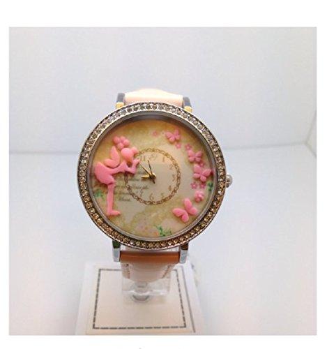 Uhr mit IP Silber und Armband pink Fee und Schmetterlinge