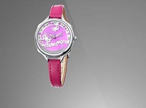 Uhr IP Silver versilbert und Armband violett