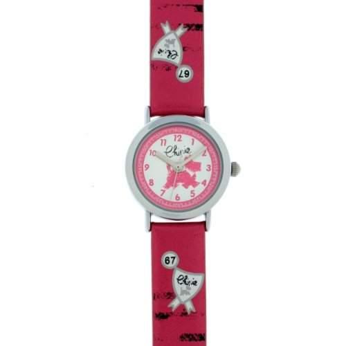 Chipie Maedchen-Armbanduhr Analog Kunststoff rosa 5209701
