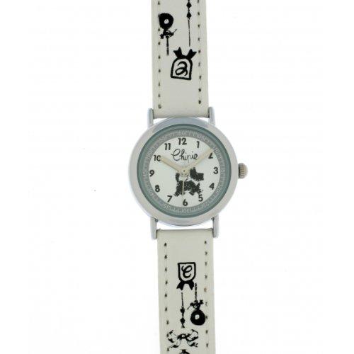 Chipie Maedchen Armbanduhr Analog Kunststoff weiss 5209504
