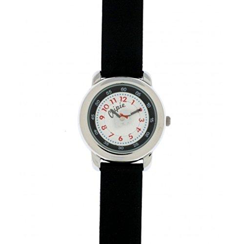 Chipie Maedchen Armbanduhr Analog Leder schwarz 5207603