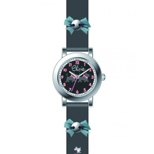 Chipie Maedchen Armbanduhr Analog Kunststoff schwarz 5209505