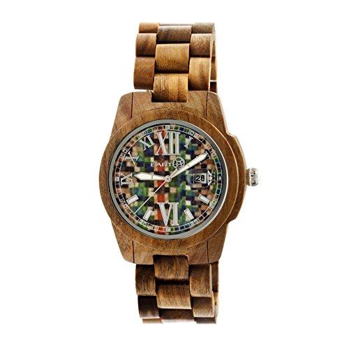 Earth Armbanduhr Analog Holz ETHEW1508 olive