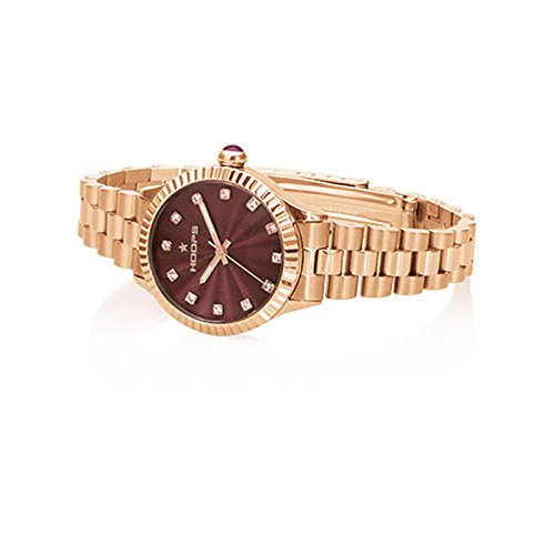 Uhr Damen Luxury Diamonds Rose Gold Braun 2569ld rg01 Hoops