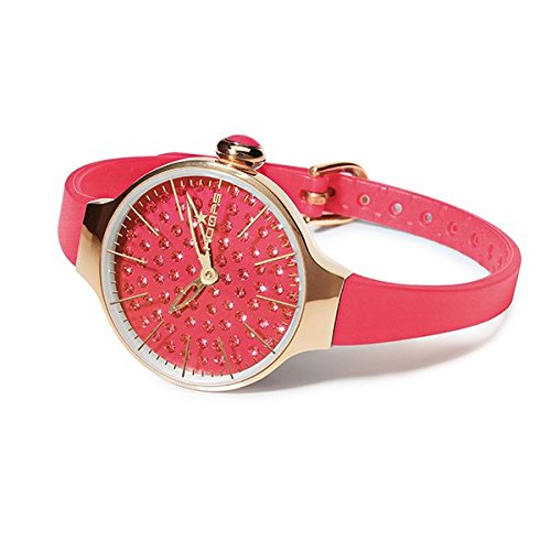 HOOPS Uhren Cherie diamond Damen Koralle 2483lgd 12