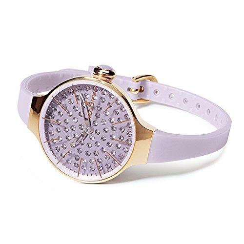 HOOPS Uhren Cherie diamond Damen lila 2483lgd 10
