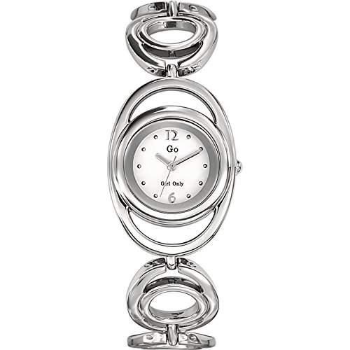 Go Girl Only-694827Damen-Armbanduhr 045J699Analog weiss Armband Metall silber