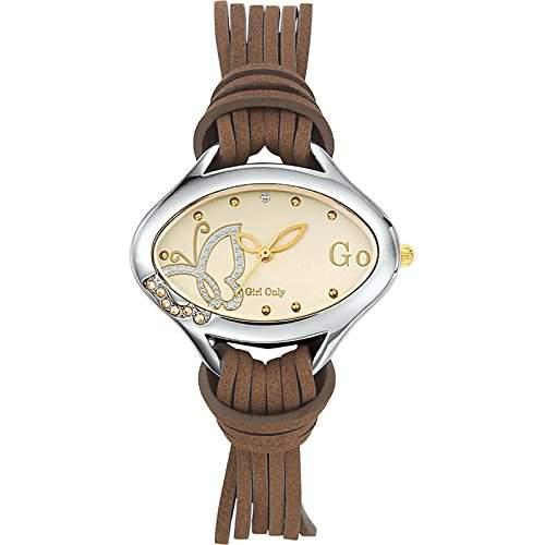 GO Girl Only Damen-Armbanduhr Analog Quarz Leder 696791