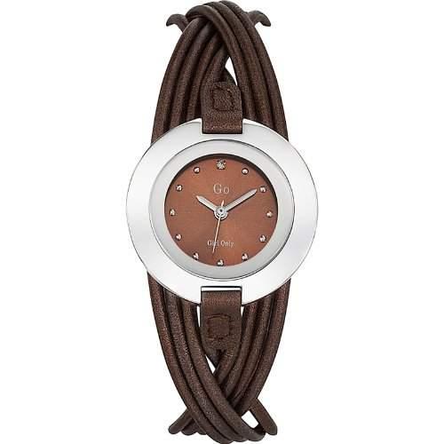 Go Girl Only Damen-Armbanduhr 698123-Quarz-Analog Zifferblatt braun Armband Leder braun