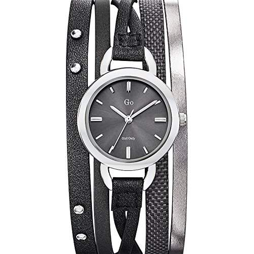 Go Girl Only Damen-Armbanduhr 698536-Armbanduhr 1076312Analog Leder Grau