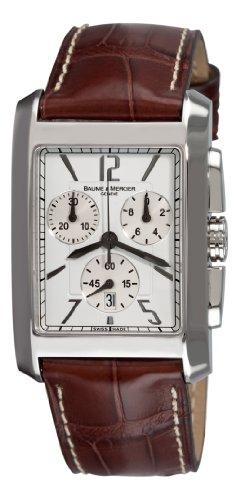 Baume Mercier Herren 8823 Hampton Classic XL Chronograph Quartz Weiss Zifferblatt