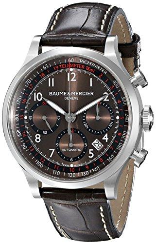 Baume und Mercier Capeland Chronograph Braun Zifferblatt Leder braun m0 a10043
