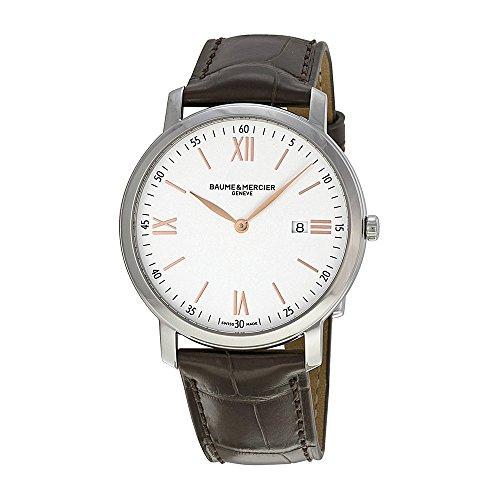 Baume und Mercier Classima Silber Zifferblatt Leder braun 10181