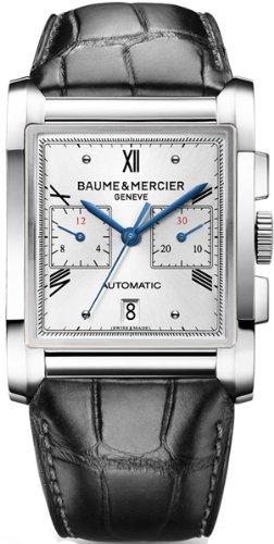 Baume Mercier Hampton 10032 Herren Uhr Silber Zifferblatt