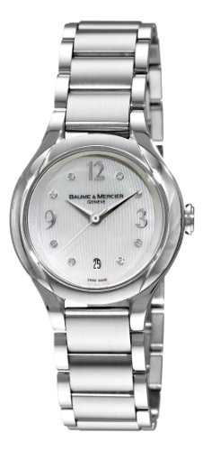 Stainless Steel Ilea Patterned Mother Of Pearl Dial Diamonds