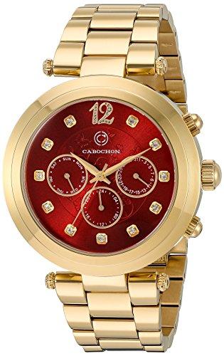 Cabochon Damen Armbanduhr 10263 YG 24