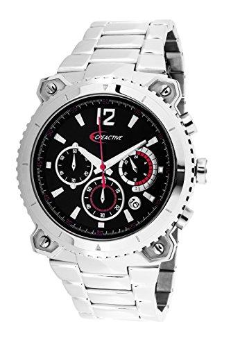 Creactive Herren Armbanduhr Chronograph Quarz Analog Edelstahl CA120106