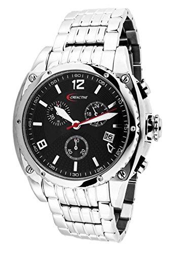 Creactive Herren Armbanduhr Chronograph Quarz Analog Edelstahl CA120104