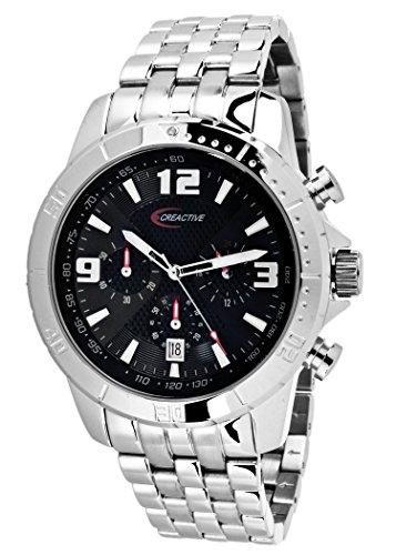 Creactive Herren Armbanduhr Chronograph Quarz Analog Edelstahl CA120109