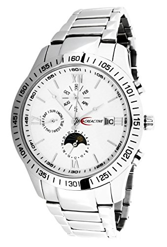 Creactive Herren Armbanduhr Chronograph Automatik Analog Edelstahl CA120101