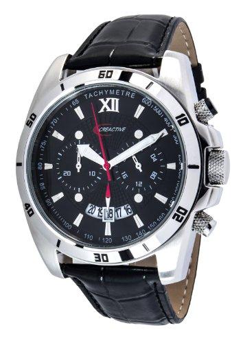 Creactive Herren Armbanduhr Quarz Analog Leder Schwarz CA120112 CT