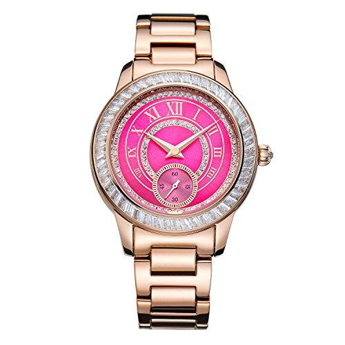 Matisse Oxford Fashion OEsterreich Kristall Zifferblatt Stahl Quarz Uhren Armbanduhr Schwarz