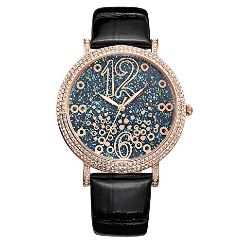 Matisse Oxford Fashion OEsterreich Kristall Zifferblatt Stahl Quarzuhr Armbanduhr Rotgold Finish