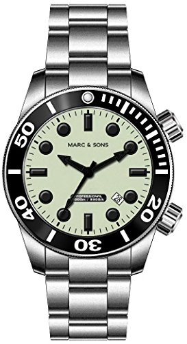 MARC SONS 1000 Meter Professional Automatik Taucheruhr Diver Watch MSD 027