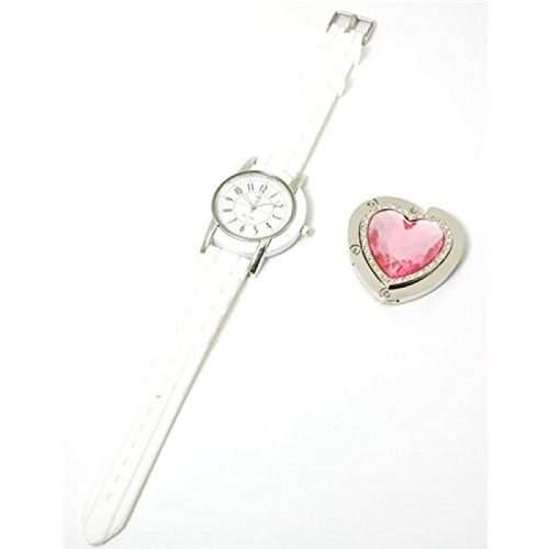 Paris Hilton Weisse Armbanduhr Mit Herzform Handtaschenhalter