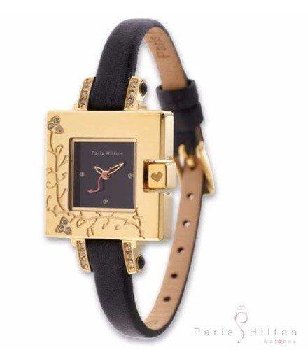 Paris Hilton Small Square 138 4336 99 Armbanduhr fuer Sie Goldenes Gehaeuse