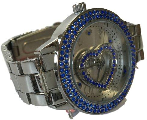 Paris Hilton Silber Edelstahl Blau Fall Herz Fashion Watch bph10044 208