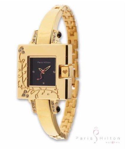 Paris Hilton Small Square Elegante Goldenes Gehaeuse 12007