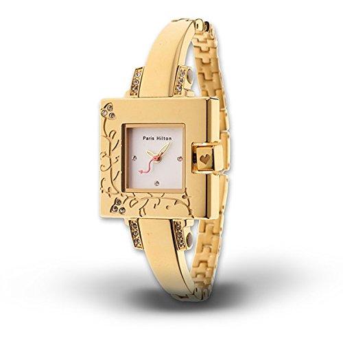 Paris Hilton Small Square Elegante Goldenes Gehaeuse 12006