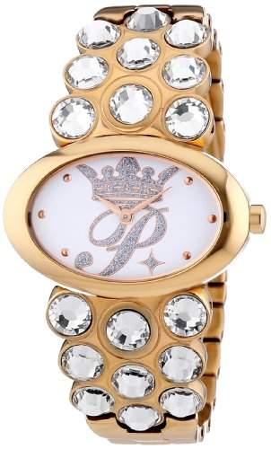 Paris Hilton Damen-Armbanduhr PRINCESS Analog Edelstahl beschichtet PH12873MSR-01M
