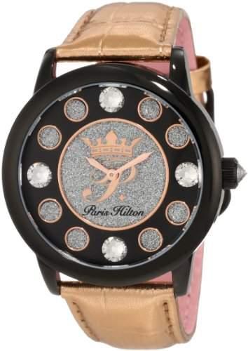 Paris Hilton Damen-Armbanduhr Fame Analog Leder PH13181JSB02