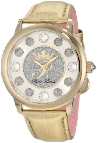 Paris Hilton Damen-Armbanduhr Fame Analog Leder PH13181JSG04